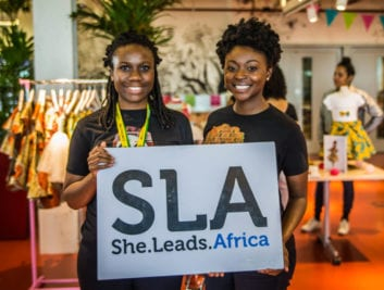 She Leads Africa Cofounders Yasmin Belo-Osagie (left) and Afua Osei (right)