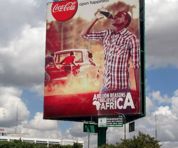 coke billboard marketing africa