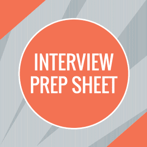Interview Prep Sheet