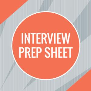 Interview Prep Sheet