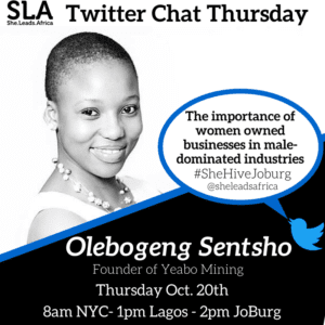 male dominated businesses twitter chat