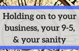 your business your day job and your sanity