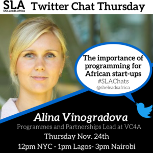 african start-up twitter chat