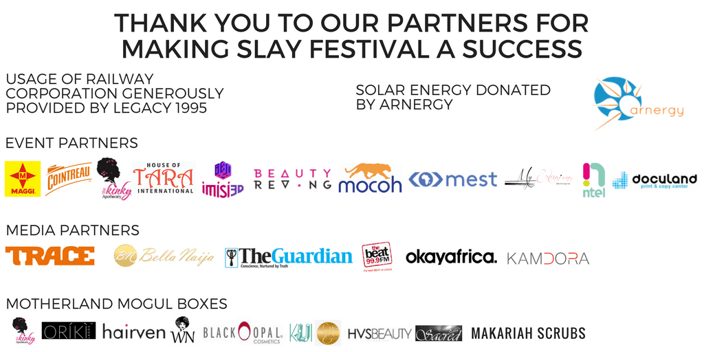 Thank you to our SLAY Festival partners