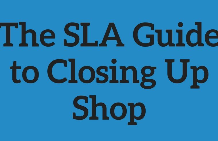 sla guide closing up shop