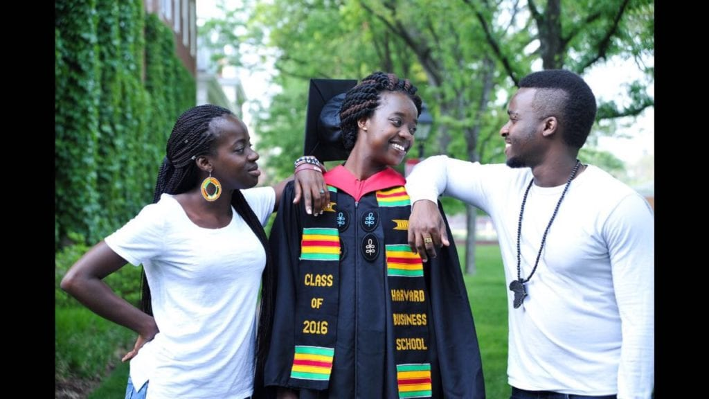 Amandla with siblings, Akinyi and James-Mark