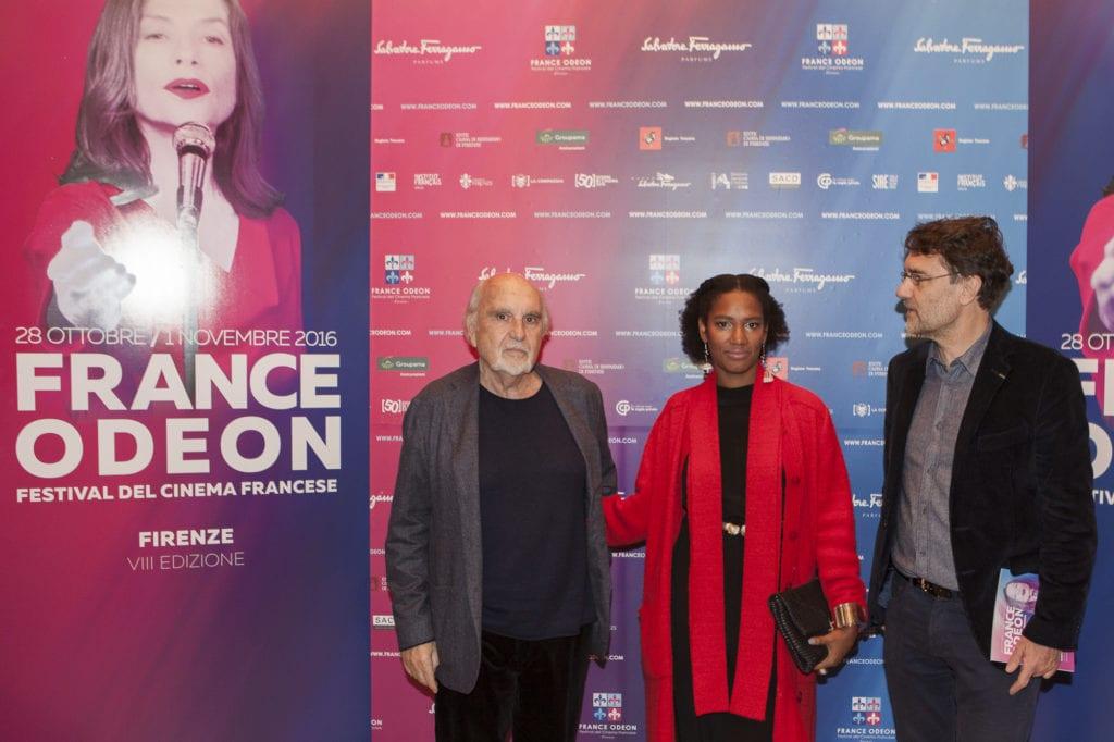Filmmaker Jean Louis Livi, PR Festival Janine Dieudji, Festival director Francesco R. Martinotti ©Filippo Menichetti