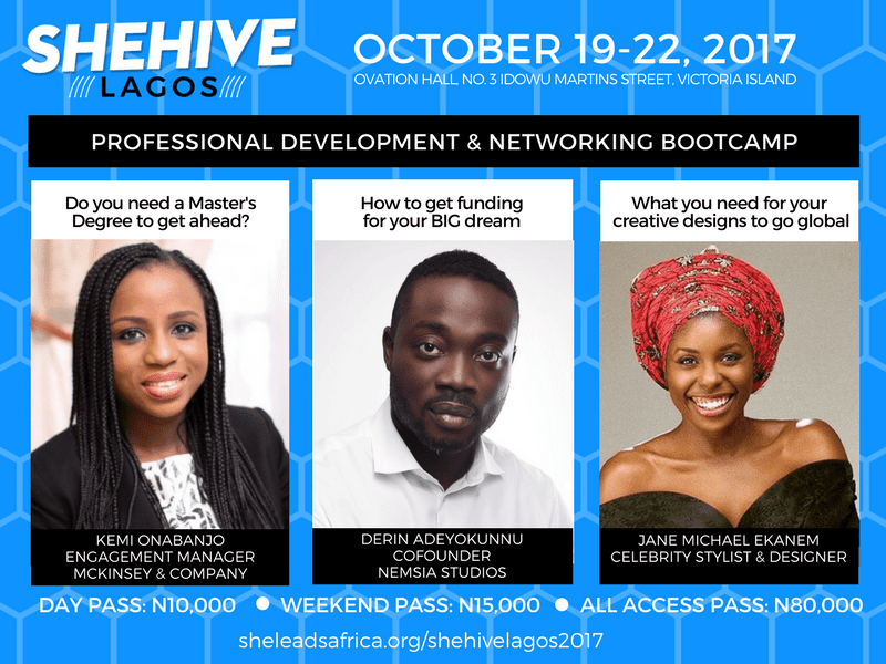 SheHive Lagos - October 19-22, 2017