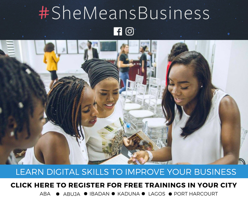 Click here to register for free digital skills trainings with She Means Business