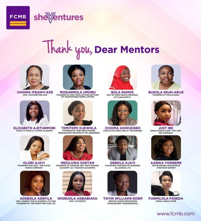 FCMB She-Ventures 2020 Mentors